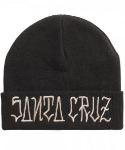 Santa Cruz Lettered Beanie Black