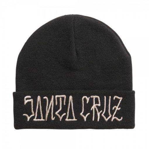 Santa Cruz Lettered Beanie Black